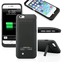 """For iPhone 6 Black 3500mAh External Battery 4.7"""" Case Charger Portable Charger Battery Up Power Bank Rechargeable Power Case with Stand 4.7inch for iPhone6 - Black"""