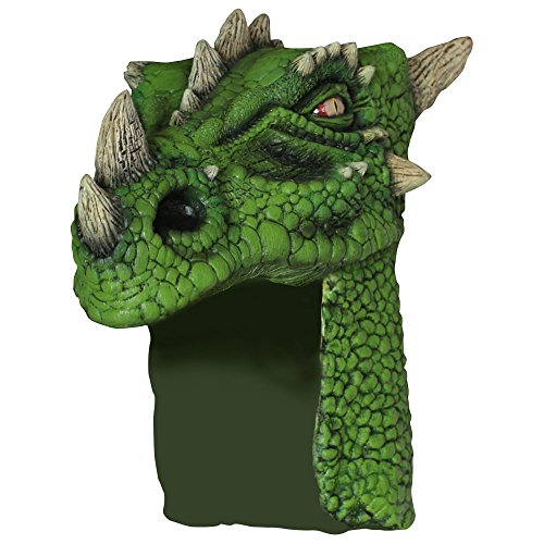 Ghoulish Masks Adult Green Dragon Halloween Helmet
