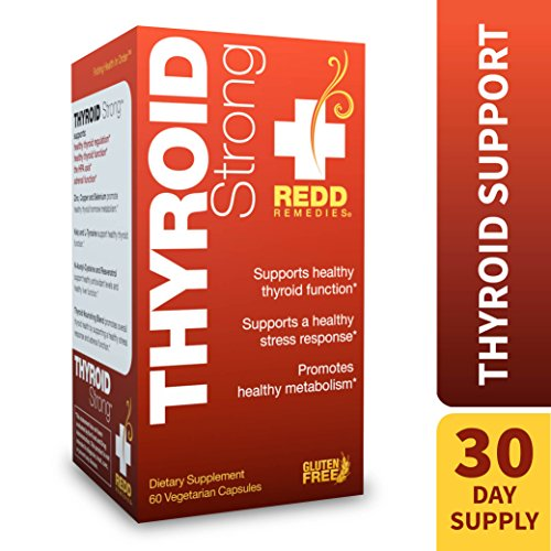 Redd Remedies – Thyroid Strong, Natural Support to Promote Healthy Mood and Metabolism, 60 Count