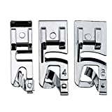 quilting roller foot - TFBOY Narrow Rolled Hem Foot Sewing Machine Hemmer Presser Foot 3 Pcs Set - Fits All Low Shank Snap-On Singer, Brother, Babylock, Euro-Pro, Janome, Kenmore, White, Juki, New Home