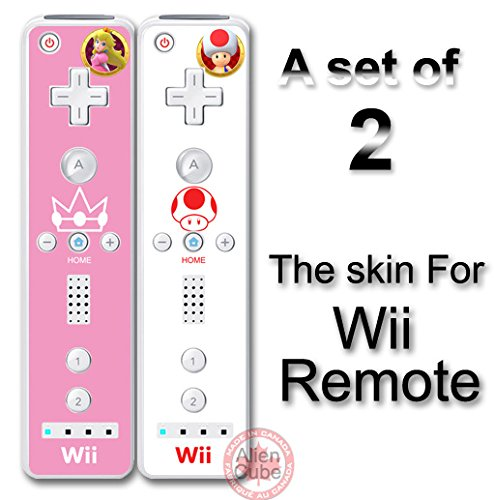 Super Mario Peach & Toad Skin Vinyl Sticker Decal Cover for Nintendo Wii Remote Review