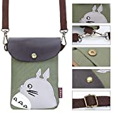 Abaddon Canvas Small Cute Crossbody Cell Wallet Bag