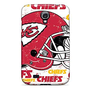 PhilHolmes Samsung Galaxy S4 Excellent Cell-phone Hard Cover Unique Design Colorful Kansas City Chiefs Image [Ohv14334PPGX]