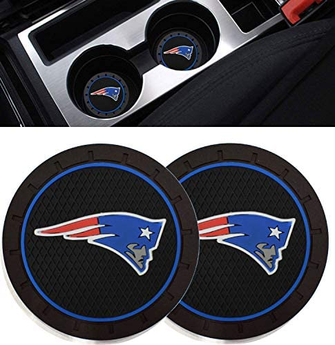 Ysiueng 4 Pack Anti Slip Cup Mat 2.75 inch for Philadelphia Eagles Car Interior Accessories Silicone Car Coaster for All Vehicles