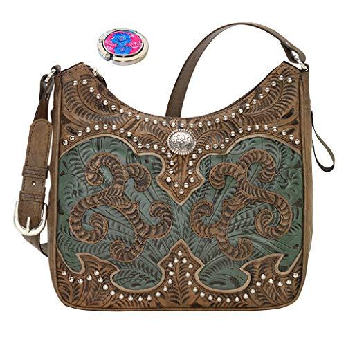 Carry Hobo Sand Shoulder American Concealed West Purse Handbag Holder Leather Bundle qwqxRIvp