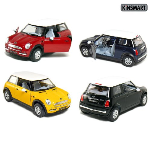 set-of-4-5-mini-cooper-128-scale-blue-black-red-yellow