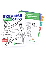 WorkoutLabs Exercise Cards: Bodyweight – Home Workout Cards Deck for Women and Men with 60 Exercises and 12 No Equipment Routines · Premium Plastic Fitness Cards