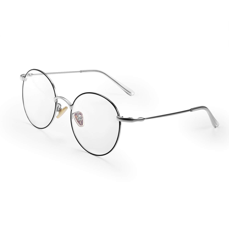 Aroncent Occhiali Montature da Vista Uomo Donna Anti luce blu resistente elasticita` lenti trasparenti comodo ultraleggero,Colore a scelta