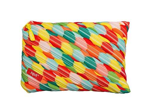 ZIPIT Colorz Big Pencil Case/Cosmetic Makeup Bag, Large Bubbles