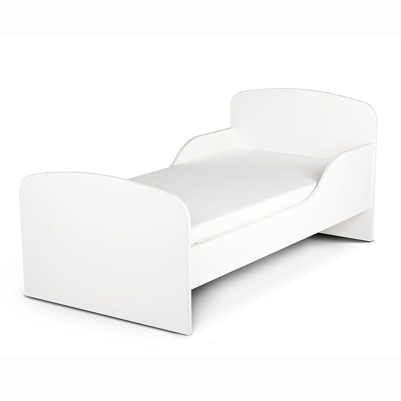Price Right Home Plain White Design MDF Toddler Bed Krakpol