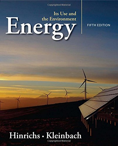 Energy: Its Use and the Environment cover