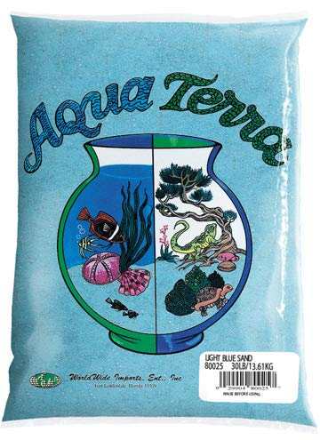 Nature's Ocean Aqua Terra Light Blue Sand 5 lb Bag, Natural Aquarium Sand