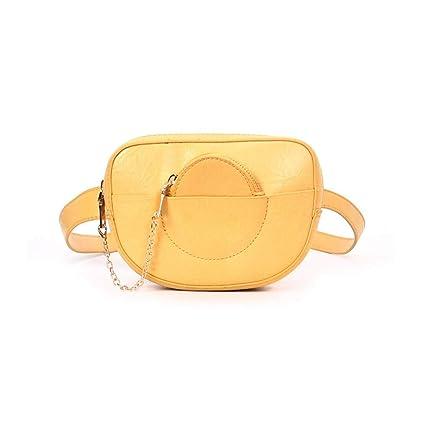 e492800b4 HAOLIEQUAN Paquete De Cintura Mujer Bolsos De Cintura Moda Dama De Cuero  Fanny Paquete Bolso De