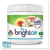 Bright Air 900133CT Super Odor Eliminator White Peach and Citrus 14oz 6/Carton