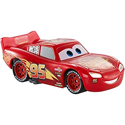 Disney Pixar Cars 3: Light-up Lightning McQueen Vehicle: Toys & Games