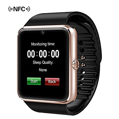 007plus® GT08 Bluetooth Smart Watch with NFC Cell Phone Watch Phone Mate for Android (Full Functions) Samsung S4 5 Note3 4 5 HTC Sony Iphone 5 6 6S