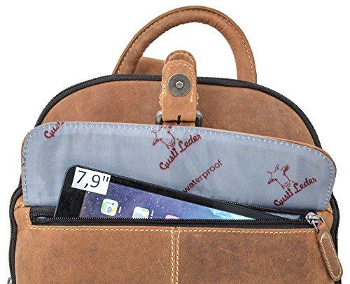 """Mochila Gusti Leder studio """"Alena"""" Bolso Diario de Cuero de Búfalo MacBook Air 11"""" Vintage Marrón 2M39-20-5wp"""