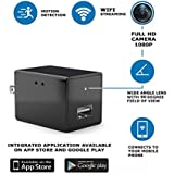 Spy Camera - Hidden Camera - Spy Nanny Recording System With USB Wall Charger Design – Motion Detection Secret HD Surveillance Cam With Wi-Fi – Mini Security Device For Home and Office