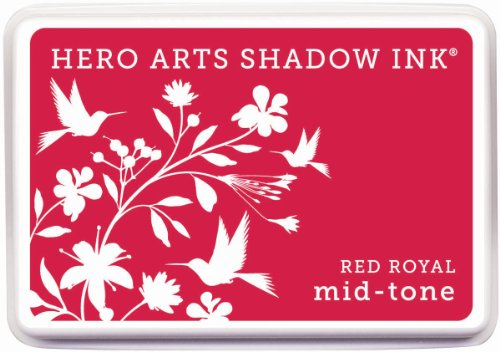 Hero Arts Rubber Stamps Royal Mid-Tone Shadow Ink Stamp Pad, Red