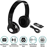 Nokia 5 compatible S460 Wireless Bluetooth Headphone With FM and SD Card Slot/ with music and calling controls (black)BY JOKIN