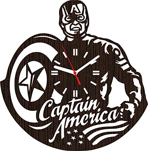 Reality Tv Costumes Ideas - Wooden Wall Clock Captain America Gifts