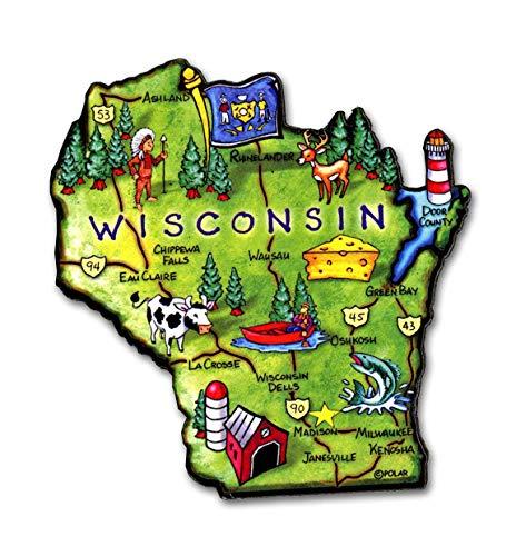 Wisconsin the Badger State Artwood Jumbo Fridge ()