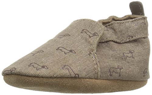 Robeez Boys' Soft Soles, Puppy Love Brown, 12-18 Months M US Infant