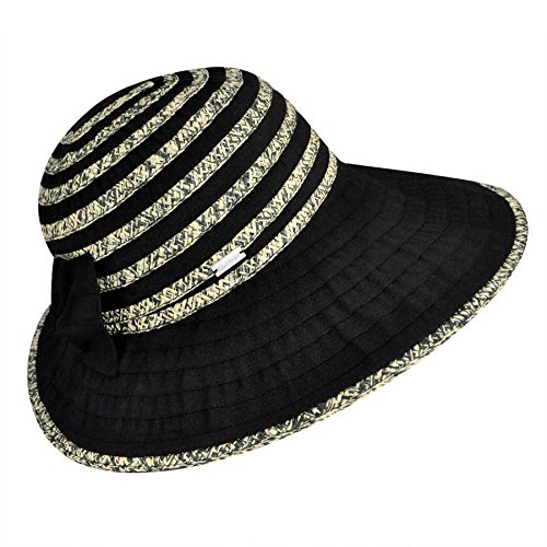 (Betmar Women's Donna Wide Brim Hat, Black/Multi, One Size)