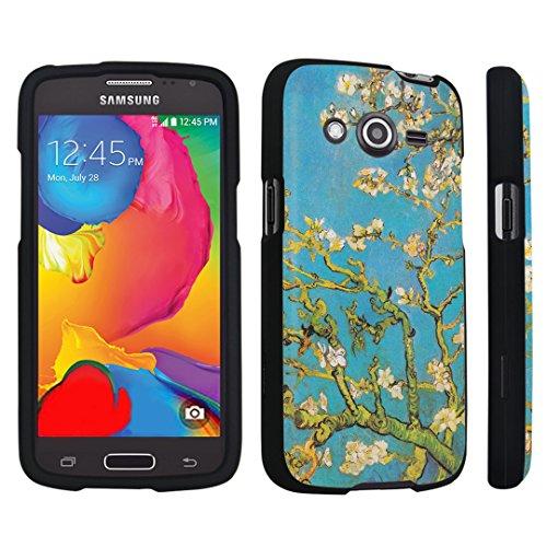 DuroCase ® Samsung Galaxy Avant G386T Hard Case Black - (Blossoming Almond Tree)