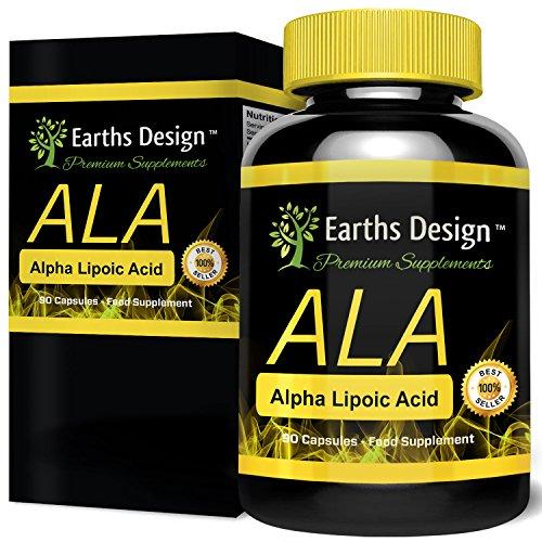 Alpha-Liponsäure, ALA ist ein Leistungsstarkes Antioxidans das Freie Radikale Zerstört, Steigert die Kreatinaufnahme der Muskeln, Fördert die Durchblutung & Verbrennt Fett, 250mg, 90 Kapseln