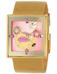 EOS tokidoki Women's TDW303SGOLD Donutella Gold Stainless Steel Mesh Watch