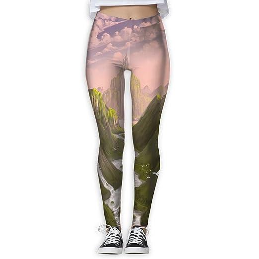 d20b22ba Doppyee Waterfall City Printing Compression Leggings Pants Tights ...