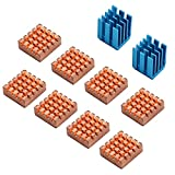 (US) Enokay 8 Pieces Cooling Copper Heatsink for Raspberry Pi VGA RAM Cooling Heatsinks Cooler