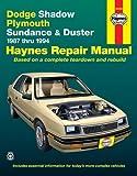Dodge Shadow & Ply. Sundance '87'94 (Haynes Repair Manuals) by Haynes (1999-01-15)