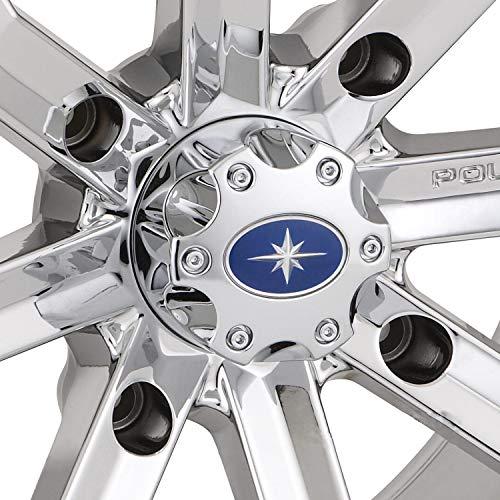 (Polaris New OEM RZR Ranger Wheel Hub Center Cap Luster Chrome,)