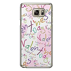 Loud Universe Samsung Galaxy Note 5 Love Valentine Printing Files A Valentine's Day 148 Printed Transparent Edge Case - Multi Color