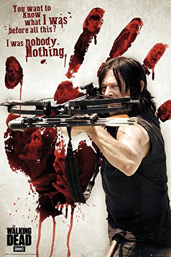 The Walking Dead - TV Show Poster / Print Daryl Dixon - Bloody Hand