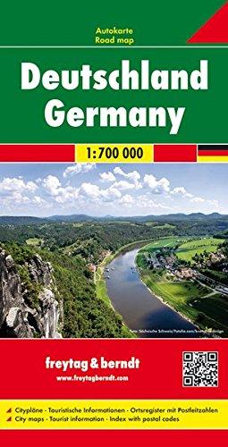Deutschland, Autokarte 1:700.000, freytag & berndt Auto + Freizeitkarten