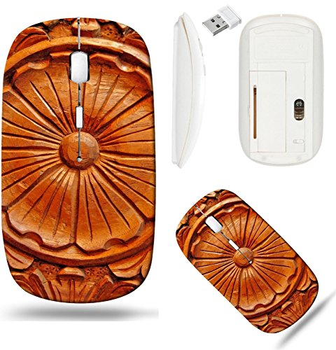 Liili Wireless Mouse White Base Travel 2.4G Wireless Mice with USB Receiver, Click with 1000 DPI for notebook, pc, laptop, computer, mac book philippine hardwood with intricate wood carving Photo 6402
