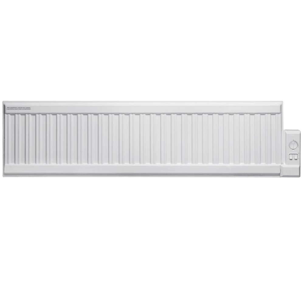 Adax ALO Low Profile Oil Filled Electric Radiator, Wall Mounted With Thermostat. Heats up to 5m2 Room Space, 400W