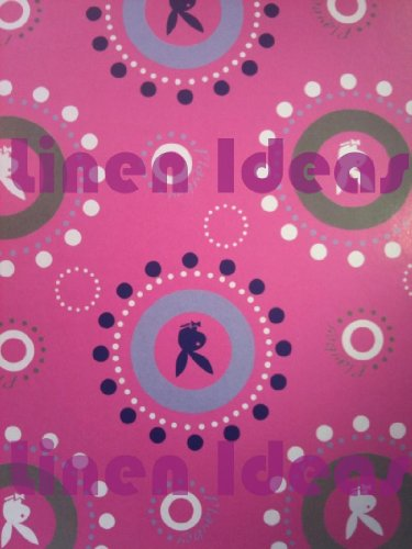 Playboy Bubbles Purple Ready Made Curtains