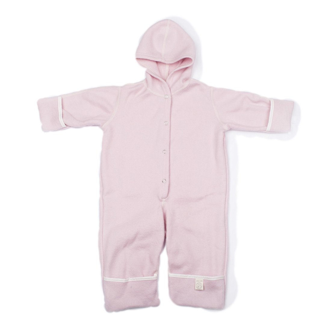 LANACare Organic Merino Wool Hooded Overall, Natural White, size 80 (9-12 mo)