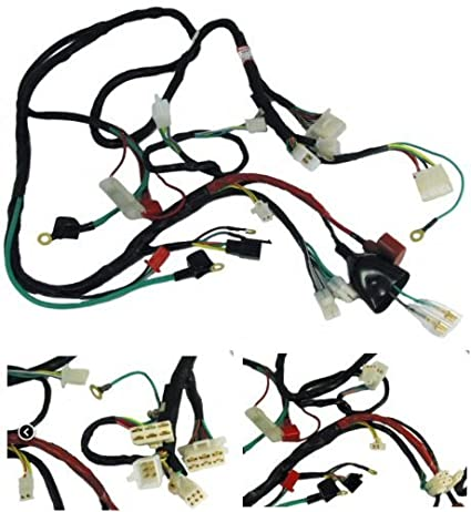 Amazon Com Scootsusa Premium Gy6 Scooter Wire Harness Automotive