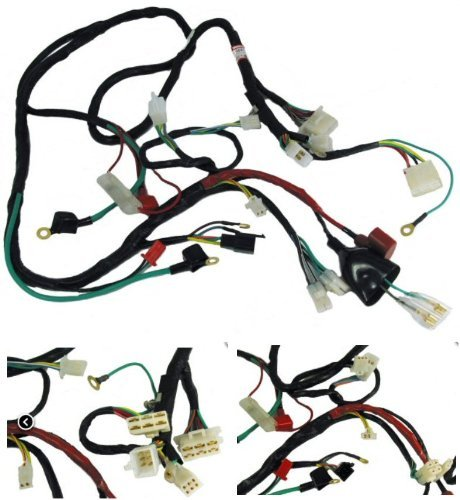 ScootsUSA Premium GY6 Scooter Wire Harness on