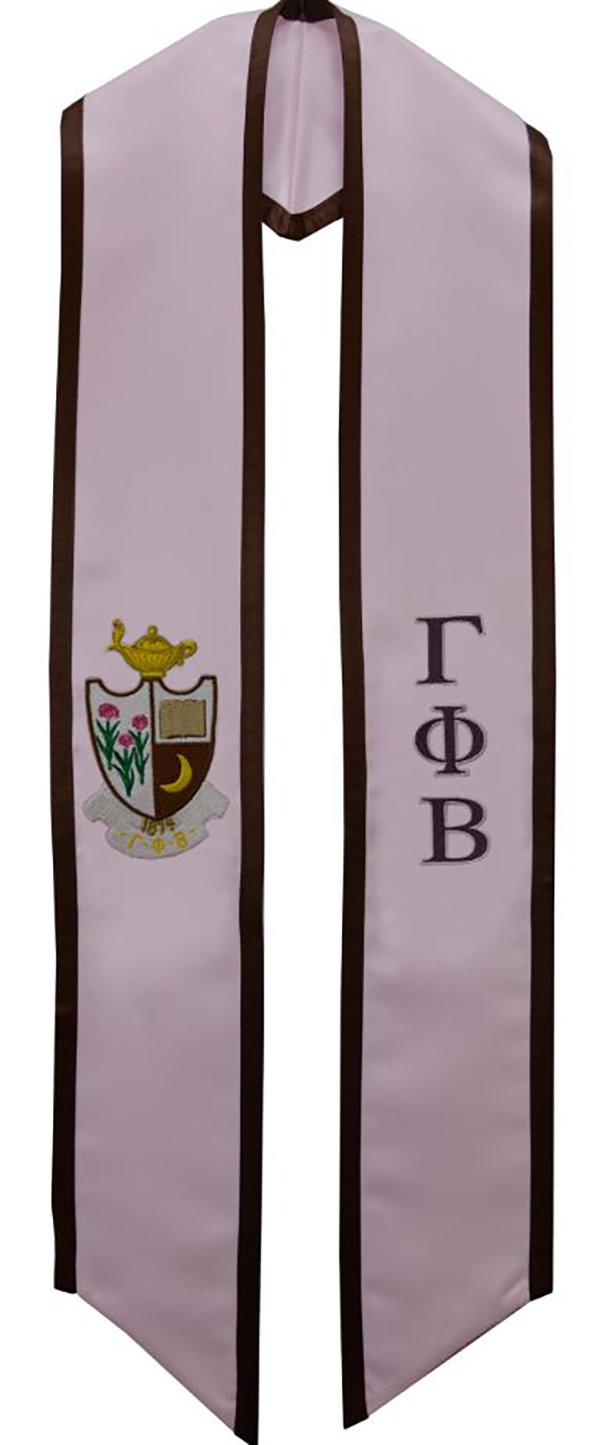 Gamma Phi Beta Sorority Deluxe Embroidered Graduation Stole