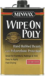 Minwax 60910000 Wipe-On Poly Finish Clear, quart,  Satin