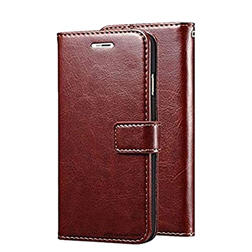 Dr2s Fashion Retail Mi Redmi 4X Flip Cover Magnetic Leather Wallet Case Shockproof TPU for Mi Redmi 4X   Brown