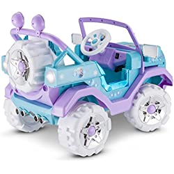 Disney Frozen 4X4 Jeep 6V KT1205 Ride On, Blue
