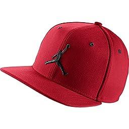 Nike Mens Air Jordan Jumpman Snapback Hat Gym Red/Black 619360-689