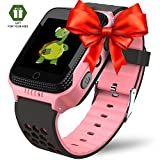 Smart Watch for Kids - Smart Watches for Boys Smartwatch GPS Tracker Watch Wrist Android Mobile Camera Cell Phone Best Gift for Girls Children boy Pink Blue Yellow (pink3)